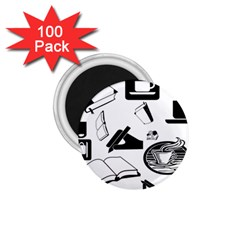 Books And Coffee 1 75  Button Magnet (100 Pack)