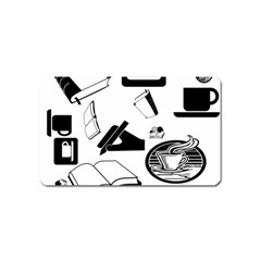 Books And Coffee Magnet (Name Card)