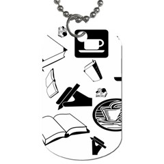 Books And Coffee Dog Tag (One Sided)