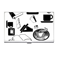 Books And Coffee Business Card Holder