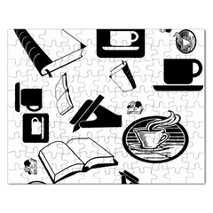 Books And Coffee Jigsaw Puzzle (Rectangle)