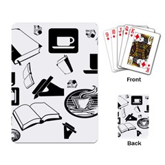 Books And Coffee Playing Cards Single Design