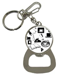 Books And Coffee Bottle Opener Key Chain