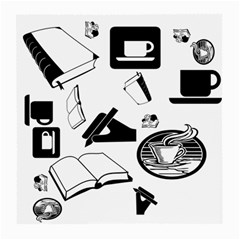 Books And Coffee Glasses Cloth (Medium, Two Sided)