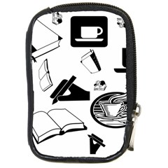 Books And Coffee Compact Camera Leather Case