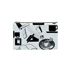 Books And Coffee Cosmetic Bag (small)