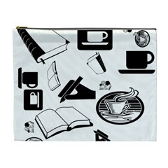 Books And Coffee Cosmetic Bag (XL)