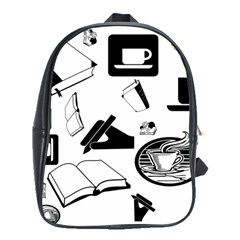 Books And Coffee School Bag (Large)