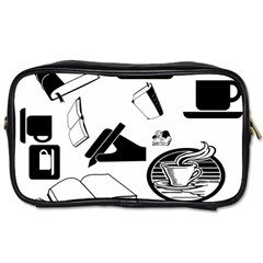 Books And Coffee Travel Toiletry Bag (two Sides)