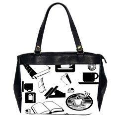 Books And Coffee Oversize Office Handbag (Two Sides)