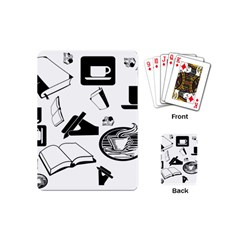 Books And Coffee Playing Cards (Mini)