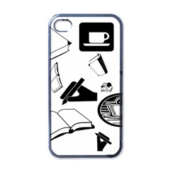 Books And Coffee Apple Iphone 4 Case (black)