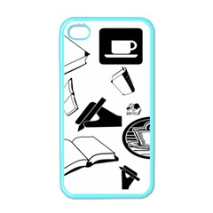 Books And Coffee Apple Iphone 4 Case (color)