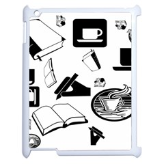 Books And Coffee Apple iPad 2 Case (White)