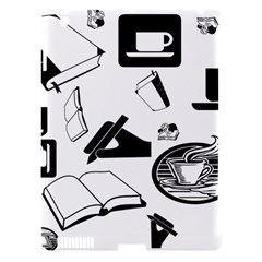 Books And Coffee Apple iPad 3/4 Hardshell Case (Compatible with Smart Cover)