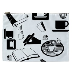 Books And Coffee Cosmetic Bag (XXL)
