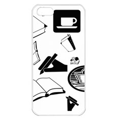Books And Coffee Apple Iphone 5 Seamless Case (white)