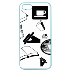 Books And Coffee Apple Seamless Iphone 5 Case (color)