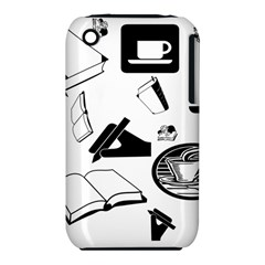 Books And Coffee Apple iPhone 3G/3GS Hardshell Case (PC+Silicone)