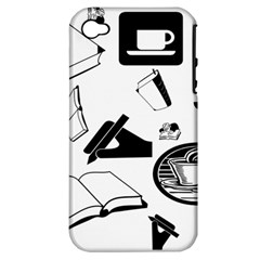Books And Coffee Apple Iphone 4/4s Hardshell Case (pc+silicone)