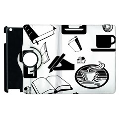 Books And Coffee Apple Ipad 3/4 Flip 360 Case