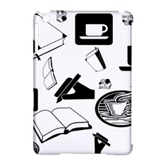Books And Coffee Apple iPad Mini Hardshell Case (Compatible with Smart Cover)