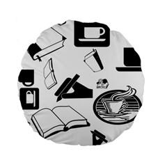 Books And Coffee 15  Premium Round Cushion