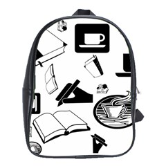Books And Coffee School Bag (XL)