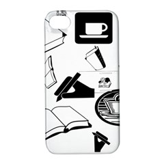 Books And Coffee Apple iPhone 4/4S Hardshell Case with Stand