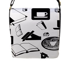 Books And Coffee Flap Closure Messenger Bag (Large)