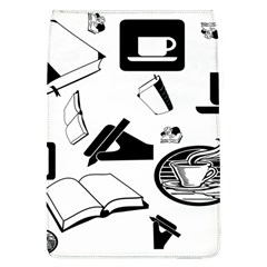 Books And Coffee Removable Flap Cover (Large)