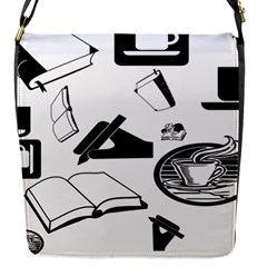 Books And Coffee Flap Closure Messenger Bag (Small)