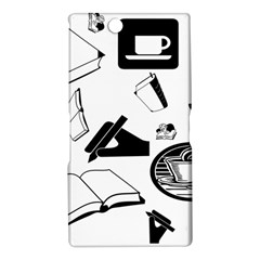 Books And Coffee Sony Xperia Z Ultra (XL39H) Hardshell Case