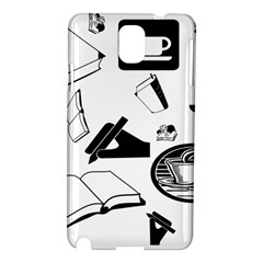 Books And Coffee Samsung Galaxy Note 3 N9005 Hardshell Case