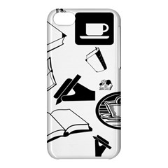 Books And Coffee Apple iPhone 5C Hardshell Case
