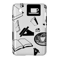 Books And Coffee Samsung Galaxy Tab 2 (7 ) P3100 Hardshell Case