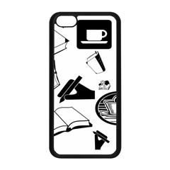 Books And Coffee Apple iPhone 5C Seamless Case (Black)