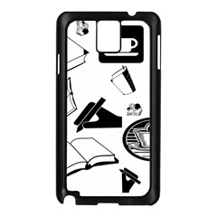 Books And Coffee Samsung Galaxy Note 3 N9005 Case (Black)