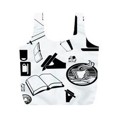 Books And Coffee Reusable Bag (M)