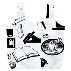 Books And Coffee Reusable Bag (XL)