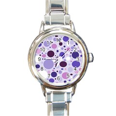 Passion For Purple Round Italian Charm Watch