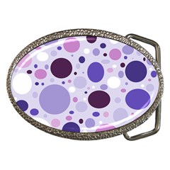 Passion For Purple Belt Buckle (Oval)