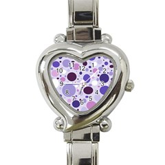 Passion For Purple Heart Italian Charm Watch