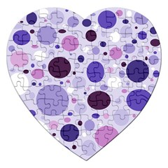 Passion For Purple Jigsaw Puzzle (Heart)
