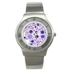 Passion For Purple Stainless Steel Watch (slim)