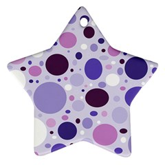 Passion For Purple Star Ornament (Two Sides)