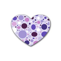 Passion For Purple Drink Coasters 4 Pack (heart)