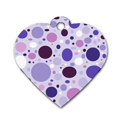 Passion For Purple Dog Tag Heart (One Sided)