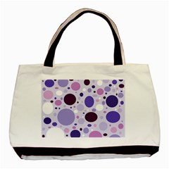 Passion For Purple Twin Sided Black Tote Bag