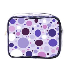 Passion For Purple Mini Travel Toiletry Bag (one Side)
